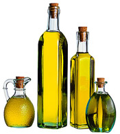 Oilve oil in bottles