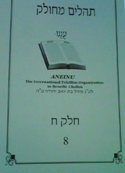 A copy of one of the 24 tehilim books