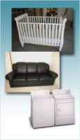 Tomchei shabbas sometimes has furniture & appliance to give away or to sell at a reduced price