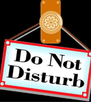 Do not disturb the chosson (groom) & kallah (bride) during their private time after the chupah is over & before they join the guests in the dining room