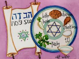 A passover plate made by a child