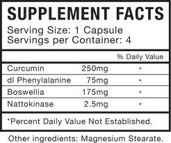 Nutrition Facts on a supplement container