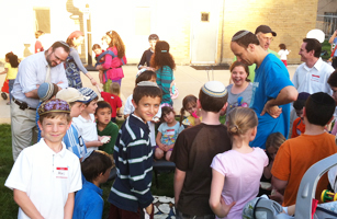 Synagogue activity for members of Bais Abraham in the University City area of St. Louis, MO