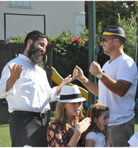 A fun activity at a shul in Beverly Hills, California