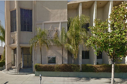 Front of Congregation Shaarei Tefila in Los Angeles