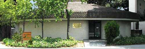 The front of the building of Am Achad Shul in San Jose