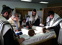 Ahavas Torah Center bima & mechitza