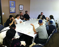 A learning session with the Rabbi at Ahavas Torah Center in Henderson, Nevada