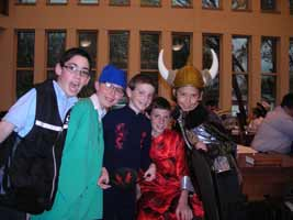 Kids at Ohr HaTorah Purim celebration