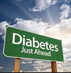 A sign saying DIABETES JUST AHEAD if you already have  pre-diabetes