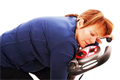 Woman exhausted from exercise