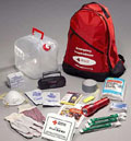 Pack up a duffle bag or a couple of knapsacks with what you need for disasters